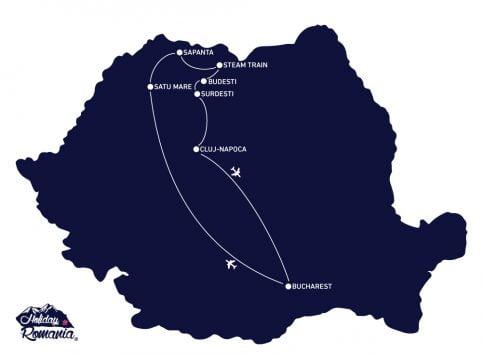 Discover Maramures Tour Map