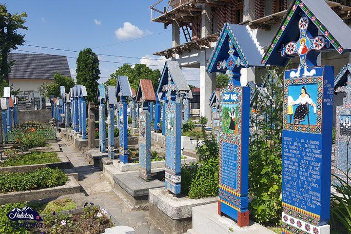 Merry Cemetery Sapanta by Holiday to Romania