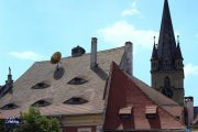 Sibiu Sleeping Eyes and Evangelical Church by Holiday to Romania