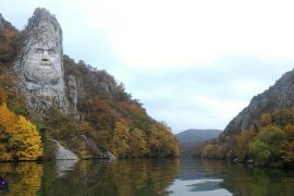 Rock sculpture of Decebalus Iron Gates by Holiday to Romania